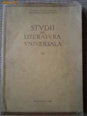 STUDII DE LITERATURA UNIVERSALA XIII 1969 carte stiinta cultura