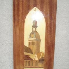 TABLOU - lemn cu intarsii - sculptura reproducere