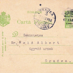 CARTE POSTALA STAMPILA DR MAURICIU KELL TIMISOARA, PT.DR FELD ORADEA, ROMANIA 1930-OCPP 50 - Plic Papetarie