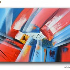 Tablou Abstract 75 - ulei pe panza 90x60cm pe sasiu