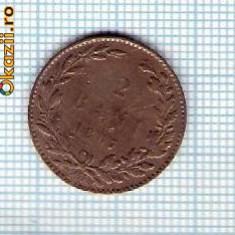 47 Moneda 2 BANI 1867 WATT & Co -starea care se vede -ceva mai buna decat scanarea - Moneda Romania