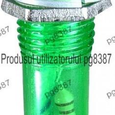 Indicator cu bec, 220V, 12x38mm, verde - 124811