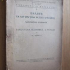 DRAGUS UN SAT DIN TARA OLTULUI - Structura Economica- Al. Barbat - 1944, 188 p.