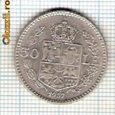 50 Moneda 50 LEI 1937 -starea care se vede -ceva mai buna decat scanarea - Moneda Romania