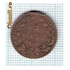 39 Moneda 2 Bani 1867 HEATON -starea care se vede -ceva mai buna decat scanarea -scuzati firul de scama interpus la scanare - Moneda Romania
