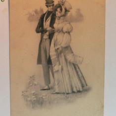 3 - ILUSTRATA ROMANTICA LITOGRAFIE - MODA ANILOR INCEPUT DE 1900 - JOBEN, PALARIE .