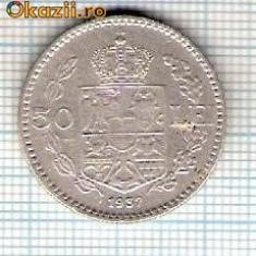 59 Moneda 50 LEI 1937 -starea care se vede -ceva mai buna decat scanarea - Moneda Romania