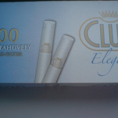 Tuburi tigari Club Elegant pentru injectat tutun - Filtru tutun