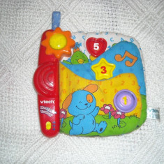 Vtech - Carte muzicala bebe pentru carucior sau loc de joaca - limba franceza 4-18 luni - Instrumente muzicale copii