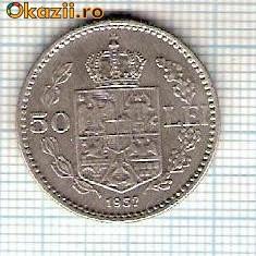 58 Moneda 50 LEI 1937 -starea care se vede -ceva mai buna decat scanarea - Moneda Romania