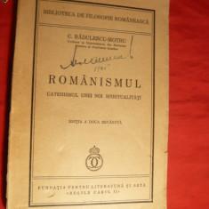 C.Radulescu-Motru - Romanismul - Ed.IIa - 1939