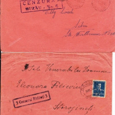 PLIC TIMBRATCENZURAT; 1DE LA RADAUTI PT.STAROJINETI, SI 1 PT., SIBIU 1942-OCPP 122 - Plic Papetarie