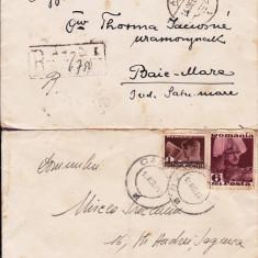 PLIC 2TIMBRATE ;1 DE LA ARTAD PT BAIA MARE 1937, SI 1 PT BUZIAS-OCPP 127 - Plic Papetarie