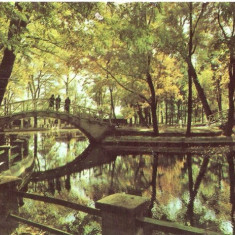 R-686 Romania, RPR, Botosani, Vedere din parc, circulata - Carte Postala Moldova dupa 1918