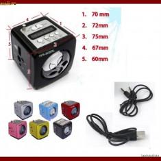 BOXA CU MP3 player si RADIO FM slot usb si Card, AFISAJ LCD ACUMULATOR Nokia Bl5c - Boxa portabila Alta