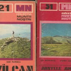 Colectia Muntii Nostri - numerele: 16, 18, 19, 21, 27, 51 - Ghid de calatorie