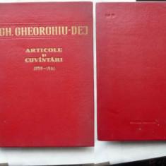 Gheorghe Gheorghiu Dej, Articole si cuvantari, 1959 - 1961 - Carte Editie princeps