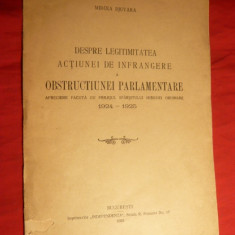 M.Djuvara -Legitimitatea Infrangerii Obstr. Parlam. - 1925 - Carte Politica