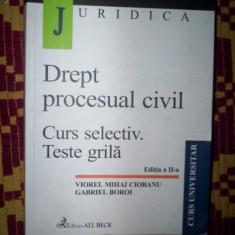 Drept procesual civil/curs selectic/teste grila-Viorel Ciobanu/Gabriel Boroi - Carte Drept procesual civil