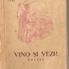 (C1282) VINO SI VEZI! DE CEZAR PETRESCU, EDITURA TINERETULUI, BUCURESTI, 1954, ILUSTRATII DE RADU VIOREL