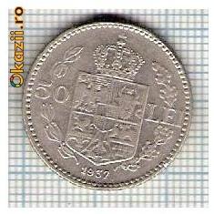 108 Moneda 50 LEI 1937 -starea care se vede -ceva mai buna decat scanarea - Moneda Romania