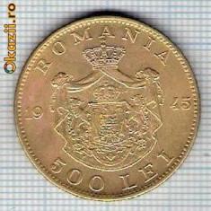 161 Moneda 500 LEI 1945 -starea care se vede -ceva mai buna decat scanarea - Moneda Romania