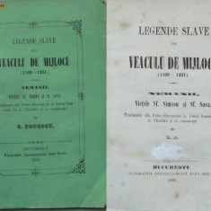 Popescu , Legende slave din veacul de mijloc , Sf. Simeon si Sf. Sava , 1860, Alta editura