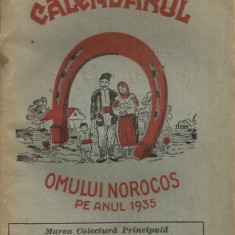 Calendarul omului norocos - 1935 - Almanah