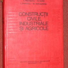 Constructii civile, industriale si agricole - C. Pestisanu, M.Voiculescu, M. Darie, L. Popescu Popescu - Carti Energetica
