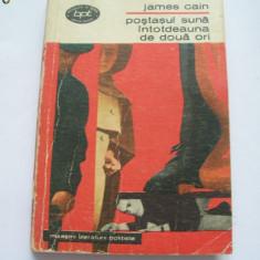 POSTASUL SUNA INTOTDEAUNA DE DOUA ORI JAMES CAIN - Roman, Anul publicarii: 1970