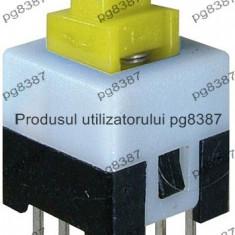 Push buton 8x8 mm, cu retinere - 124504