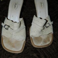 Saboti, sandale dama, marimea 36, piele intoarsa, COMANDA MINIMA 30 LEI! - Sabot dama, Culoare: Crem