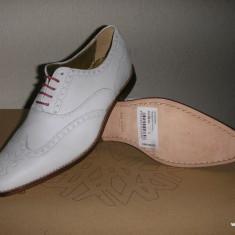 Pantofi brogue barbat TED BAKER originali noi piele Sz 40 ! - Pantofi barbat Ted Baker, Culoare: Alb, Piele naturala