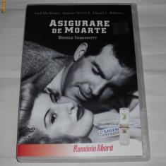 Vand dvd original cu filmul ASIGURARE DE MOARTE - Film romantice paramount, Romana