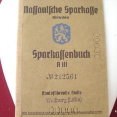 WW II - CARNET DE ECONOMII SPARKASSENBUCH A III GERMANIA - DEUTSCHES REICH