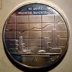 5.256 GERMANIA ANIVERSARE BANCA FEDERALA 10 EURO 2007 J AUNC ARGINT .925/18g, Europa