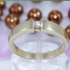 Inel aur CHRIST - 4, 4 grame 14K cu briliant de 0, 10 carate calitate exceptionala ELEGANT SI MODERN !! - Inel diamant, 46 - 56