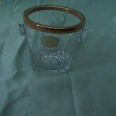 BOL DIN CRISTAL PENTRU GHEATA VAL SAINT LAMBERT - Bol sticla