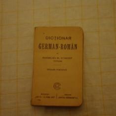 Dictionar german-roman, Maximilian W. Schroff, editiune portativa