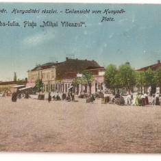 CPI (B428) ALBA - IULIA, PIATA MIHAI VITEAZUL, EDITATA 1917/21, CIRCULATA
