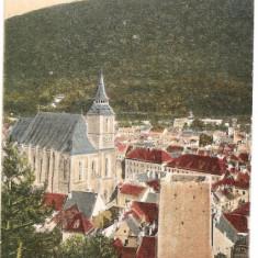CPI (B433) BRASOV, BRASSO, KRONSTADT, BISERICA SASEASCA NEGRE, EDITATA 1917, CIRCULATA 1923, STAMPILA, TIMBRE