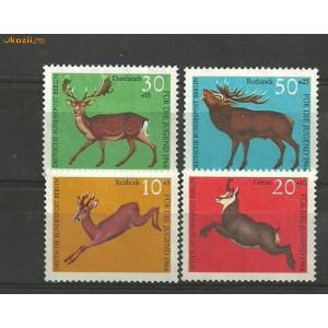 Germania 1967 - ANIMALE SALBATICE CERBI, serie nestampilata, DB4
