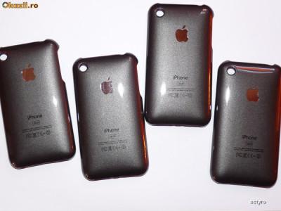 c08d5fe7701 Carcasa care face din iPhone 2G iPhone 3Gs - GRI METALIZAT | Okazii.ro