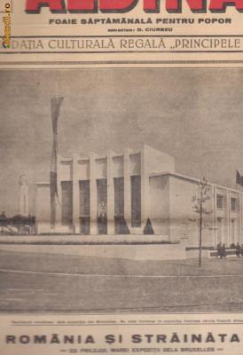 Revista Albina : Romania la Expozitia de la Bruxelles (1935) foto