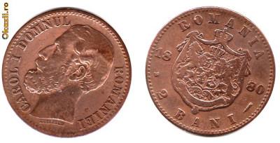 * Moneda 2 bani 1880 foto