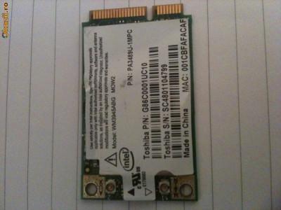 Placa retea Wireless 54MBps pt Laptop Toshiba A200 foto