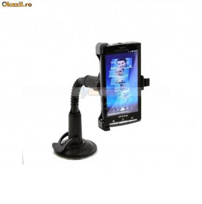 suport parbriz Sony Ericsson Xperia X10 (auto masina) + folie protectie ecran foto