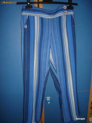 Pantaloni de primavara vara cu dungi foto
