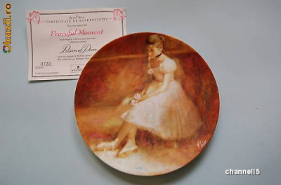 Farfurie decorativa Wedgwood Passion of Dance - Peaceful Moment foto
