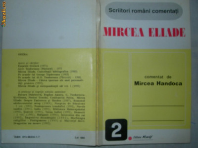 MIRCEA ELIADE comentat de Mircea Handoca foto
